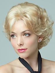 moda europeus e americanos deve-se lixívia garota loira peruca de alta qualidade