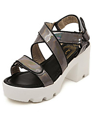 Women's Shoes Chunky Heel Gladiator Sandals Casual Black/Silver