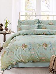 H&C 100% Cotton 1200TC Duvet Cover Set 3-Piece And 4-Piece Flowers Pattern HT3
