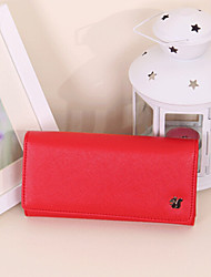 pu wallet Women 's - viola / marrone / rosso