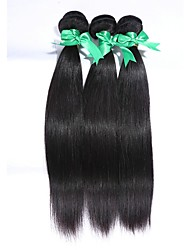 "3Pcs/Lot Brazilian Virgin Hair 100% Brazilian Remy Hair Straight 8""-30""Human Hair Extensions Natural Color"