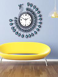 Fashionable Creative Modern Luxurious Peacock Sitting Room Wall Clock