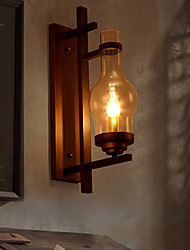 Wall Light, 1 Light, Classic Metal Glass Painting