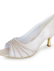 Women's Wedding Shoes Heels Heels Wedding Black/Blue/Yellow/Pink/Purple/Red/Ivory/White/Silver/Gold/Champagne