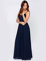 Women's Sexy Beach Party Casual V-neck Chiffon Maxi Dress