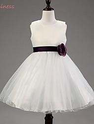 Robe Fille de Couleur Pleine Acrylique / Polyester / Maille / Organza / Satin Eté / Printemps / AutomneNoir / Or / Vert / Rose / Violet /