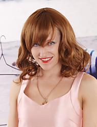 kvinnor syntetisk lättaste brun peruk vågiga 14 tum