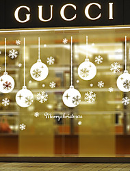 Wall Stickers Wall Decals Style Snowflakes Light PVC Wall Stickers