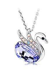 Collar Colgante ( Aleación/Piedra Preciosa y Cristal Bonito
