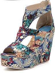 Women's Shoes Wedge Heel Wedges Sandals Casual Blue/Red