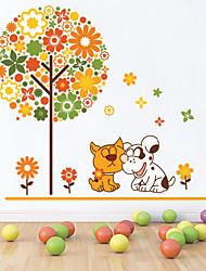 pegatinas de pared de estilo calcomanías de pared pegatinas de pared de color árbol de pvc