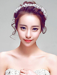 Rose Korea style Rhinestones Wedding/Beach Honeymoom/Party Bridal Headpieces with Imitation Pearls