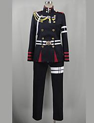 Inspiré par Seraph de la fin Guren Ichinose Vidéo Jeu Costumes de cosplay Costumes Cosplay Mosaïque Noir Manche LonguesTop / Pantalons /