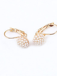 Stud Earrings Crystal Rhinestone Gold Plated 18K gold Simulated Diamond Fashion Jewelry 2pcs