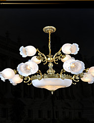 Chandeliers , Traditional/Classic/Vintage/Retro Bedroom/Dining Room/Kitchen/Study Room/Office/Hallway Metal