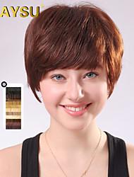 femme arrivée cheveux remy vierge top perruques courte mono droite