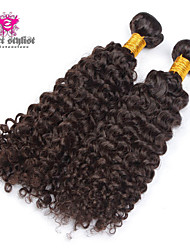 3pcs Lot 8-26 inch 5A Unprocessed Brazilian Virgin Hair Kinky Curl Human Hair Extensions Natural Black Hair Weave