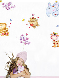 Wall Stickers Wall Decals Style Cartoon Animal PVC Wall Stickers