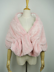 Fur Wraps Capelets Faux Fur Blushing Pink