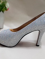 Women's Shoes Glitter Stiletto Heel Heels/Peep Toe Sandals Wedding/Party & Evening/Casual Silver