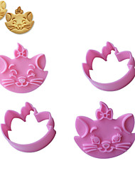 2PCS Kitty Cat  Pattern Cake and Cookie Cutter Mold