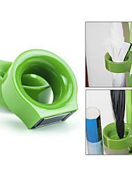 Plastic Round Unviersal Umbrella Stand Holder Magnetic Rack Set (Random Color)