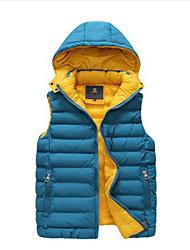 Men's Casual Sleeveless Removable Hood Vest