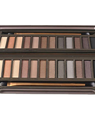 12 Eyeshadow Palette Dry / Matte / Shimmer / Mineral Eyeshadow palette Powder Normal Daily Makeup / Smokey Makeup