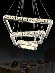 Square LED Crystal Pendant Lights K9 Crystal Hanging Lighting Chandelier Lamps Fixtures 40CM 60CM 80CM