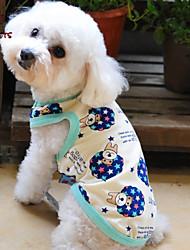 Katzen / Hunde T-shirt / Pyjamas Beige Hundekleidung Sommer Karton / Buchstabe & Nummer Hochzeit / Cosplay