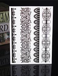 4 - Séries bijoux - Noir/Multicolore - Motif - 23*15*0.2cm - Tatouages Autocollants Homme/Femme/Adulte/Adolescent