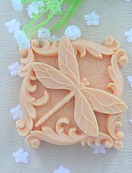 libellule savon animal moule  à cake de chocolat fondant de silicone, des outils de décoration ustensiles de cuisson