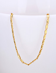 Fashion Classic Shape Rose Gold Plated Copper Alloy Chain Necklace(Gold,Rose Gold,White Gold)(1Pc)
