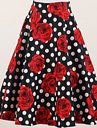 Women's 50s Rockabilly Printed Skirts