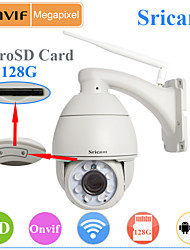 Sricam® PTZ Outdoor IP Camera 720P Waterproof Day Night Waterproof Wifi Support 128 MicroSD Card