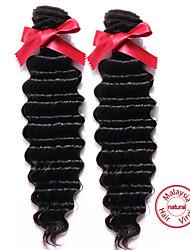 EVET 2шт Малайзии глубокая волна 7а необработанный Малайзии девственные волосы человеческие волосы плетения мягкой Малайзии наращивание