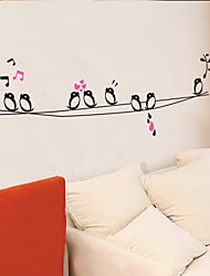 stickers muraux de style de décalcomanies de Wall Mur oiseaux chanteurs pvc autocollants