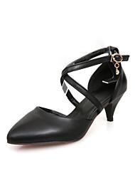 Черный / Красный / Бежевый - Женская обувь - Для офиса / Для праздника - Дерматин - На каблуке-рюмочке - На каблуках - Обувь на каблуках