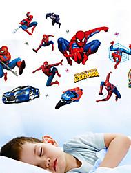 sala de decoración salón de clases de dibujos animados pegatinas hombre araña de la pared de los niños