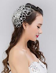 Bride's Flower Shape Crystal Rhinestone Forehead Wedding Headdress  1 PC