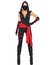 femme ninja noir cosplay costumes d'Halloween pour les femmes (+ combinaison + ceinture gants) pour le carnaval