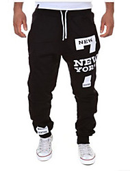 Men's han edition leisure sports pants NEW YORK letters printing fashion sports pants