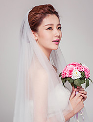 Wedding Veil Two-tier Elbow Veils Cut Edge