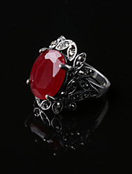Party/Casual Alloy/Resin Europe Style Red Gemstone Statement Ring