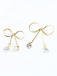 Drop Earrings Crystal Rhinestone Gold Plated 18K gold Simulated Diamond Fashion Gold Silver Jewelry 2pcs