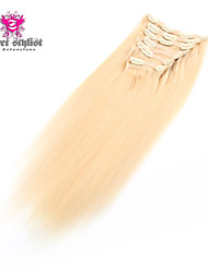 180g / set styliste secret de 20 pouces au 100% remy indien vierge de cheveux humains clip en extension de cheveux extrémité épaisse