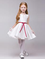 Vestido de niña de las flores - Corte A Hasta la Rodilla - Poliéster Sin Mangas