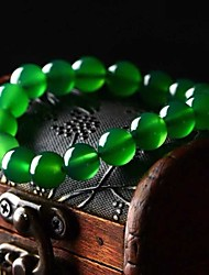 Natural Green Agate Hand 8-10MM