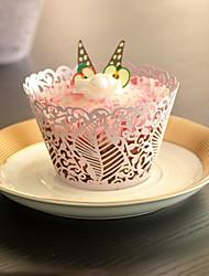 Caissettes pour Cupcakes et Boîtes ( Lilas/Blanc , Papier nacre ) Thème plage/Thème jardin/Thème floral/Thème classique - pour