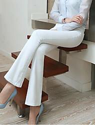 De las mujeres Pantalones Hasta la Bota - Bodycon Elástico - Denim